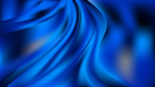 Glowing Abstract Cobalt Blue Wave Background Vector Art