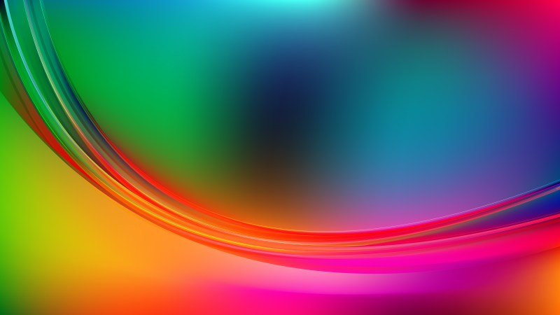 Colorful Abstract Curve Background Vector Illustration