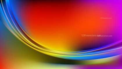 Glowing Colorful Wave Background Vector Graphic
