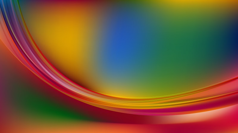 Abstract Glowing Colorful Wave Background Illustrator