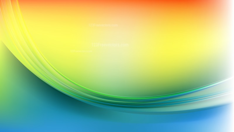 Abstract Colorful Wave Background Illustration