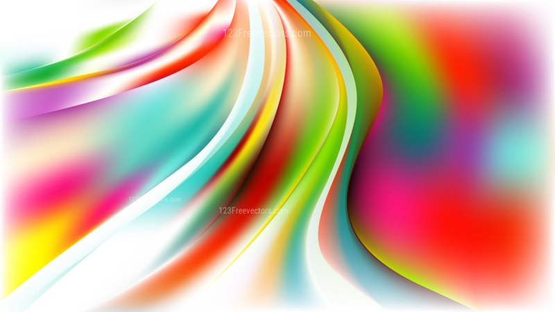 Glowing Abstract Colorful Wave Background