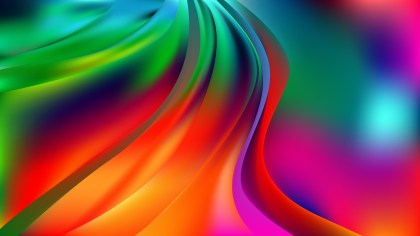 Abstract Glowing Colorful Wave Background Image