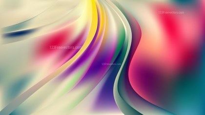 Glowing Abstract Colorful Wave Background Vector Art