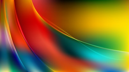 Colorful Abstract Wavy Background Vector Graphic