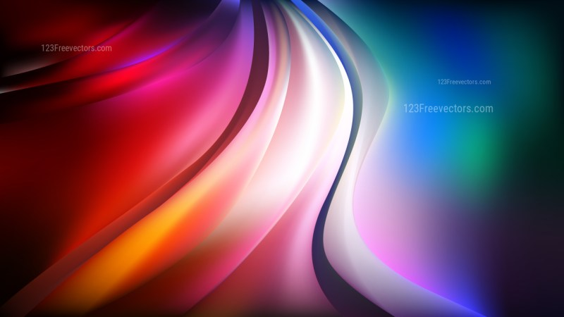 Abstract Cool Wavy Background Vector