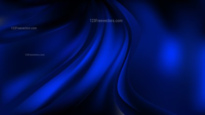 Abstract Cool Blue Wave Background