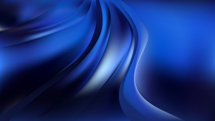 Glowing Abstract Cool Blue Wave Background Vector Art