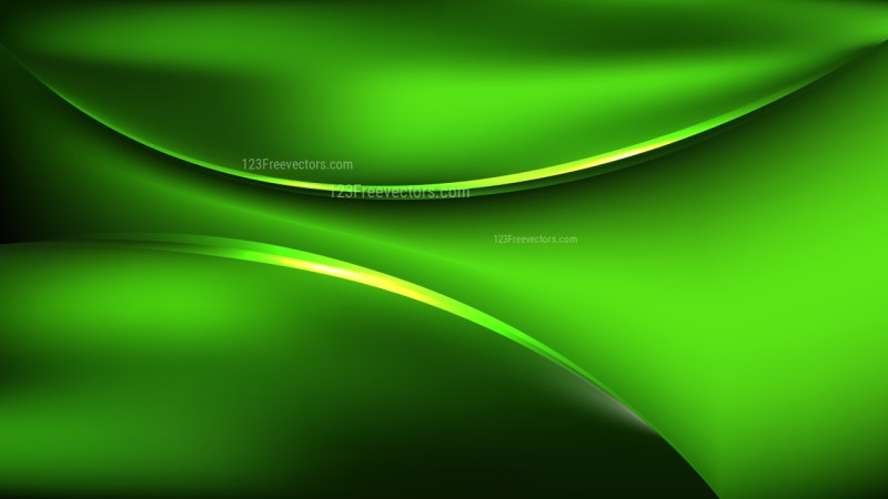 Glowing Abstract Cool Green Wave Background