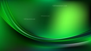 Abstract Cool Green Curve Background