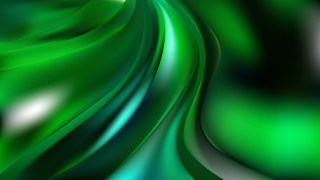 Abstract Glowing Cool Green Wave Background Image