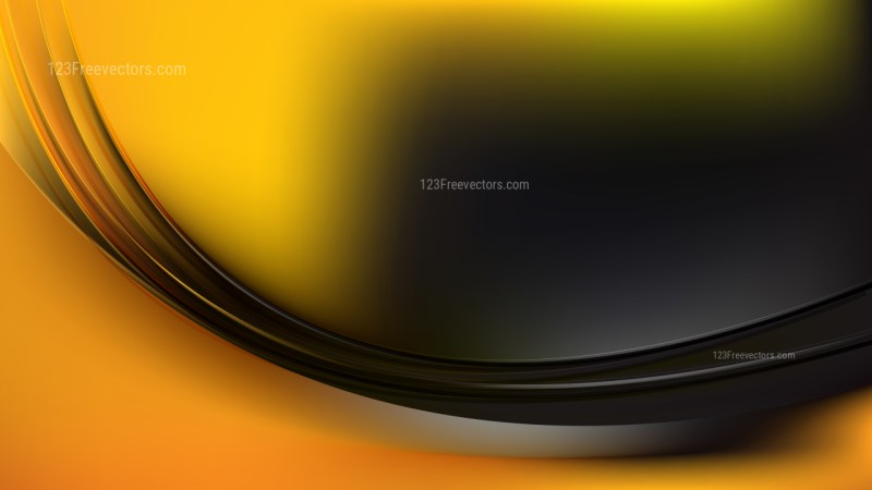 Abstract Cool Orange Wave Background Template