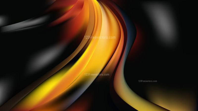 Glowing Cool Orange Wave Background Illustration