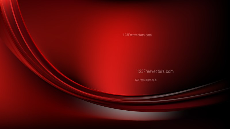 Abstract Cool Red Wavy Background