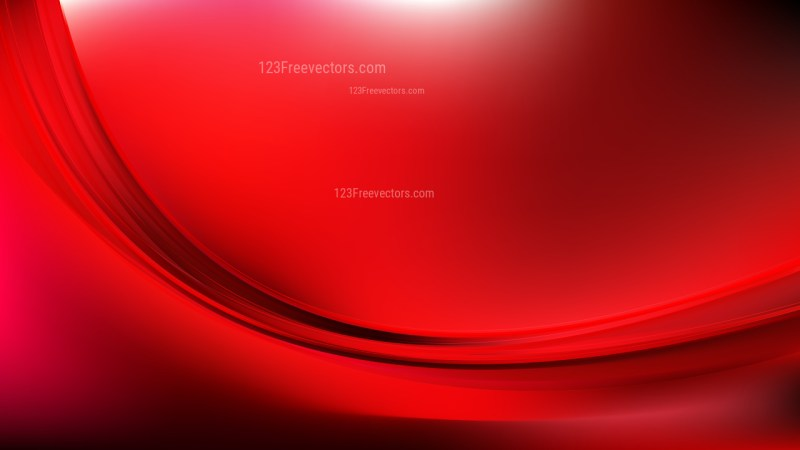 Abstract Cool Red Wave Background Vector Art
