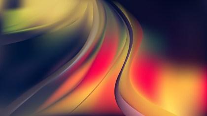Glowing Dark Color Wave Background