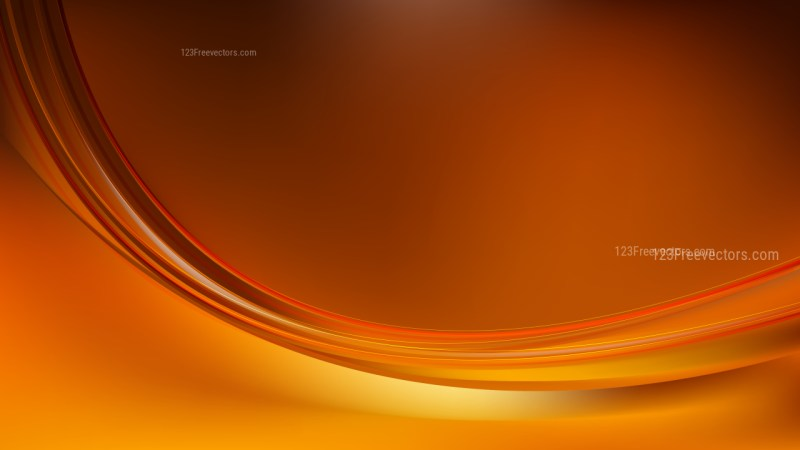 Abstract Glowing Dark Orange Wave Background Graphic