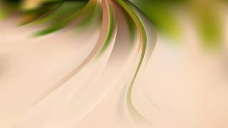Abstract Glowing Green and Beige Wave Background