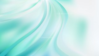 Abstract Green and White Wavy Background Vector