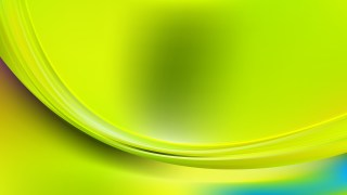 Glowing Green and Yellow Wave Background Vector