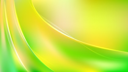Abstract Glowing Green and Yellow Wave Background Image