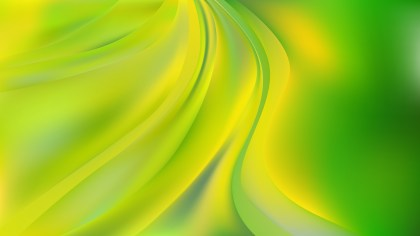 Abstract Green and Yellow Wavy Background