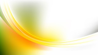 Abstract Glowing Green Yellow and White Wave Background