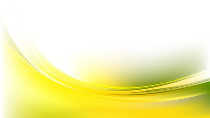 Abstract Glowing Green Yellow and White Wave Background Graphic