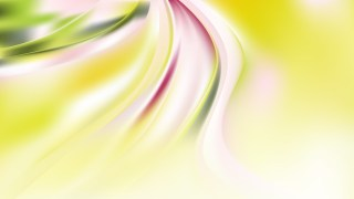 Abstract Green Yellow and White Curve Background Vector Art