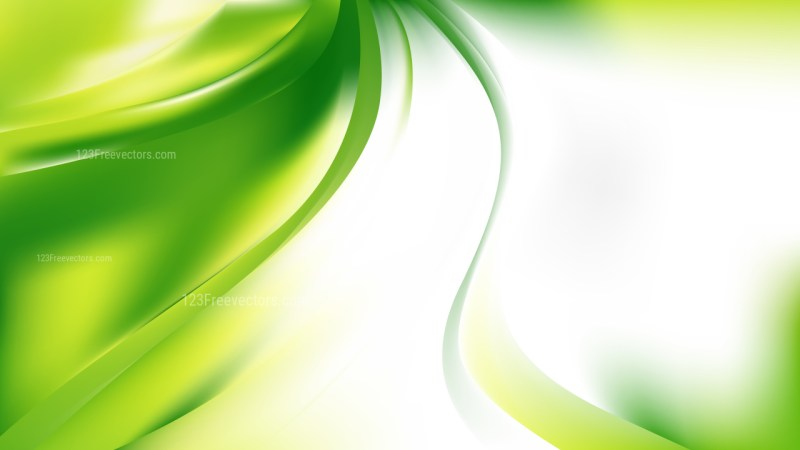 Green Yellow and White Abstract Wave Background