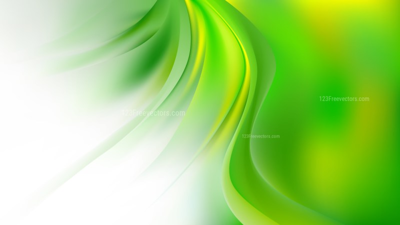 Green Yellow and White Abstract Wavy Background