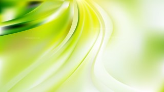 Green Yellow and White Abstract Wavy Background Vector Graphic