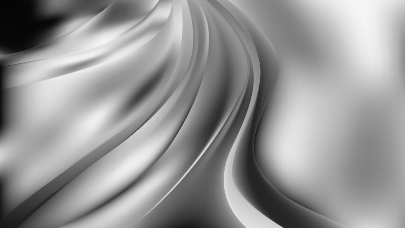 Abstract Grey Curve Background