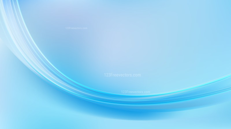 Abstract Light Blue Wave Background