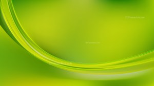 Abstract Lime Green Shiny Wave Background