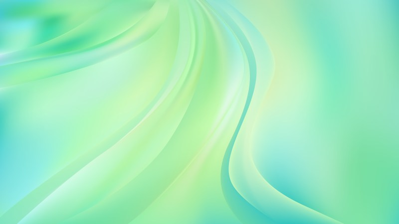 Abstract Glowing Mint Green Wave Background
