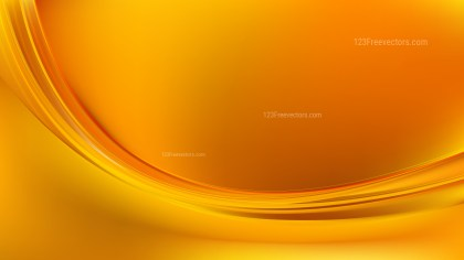 Glowing Orange Wave Background Design