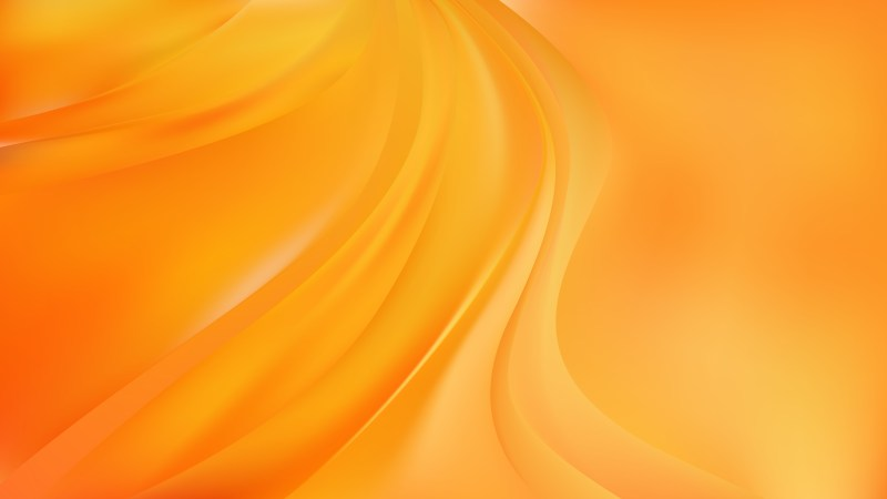 Abstract Glowing Orange Wave Background Image