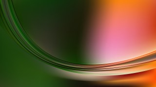 Orange and Green Abstract Wavy Background Vector Graphic