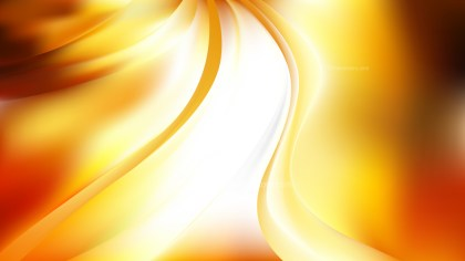 Abstract Glowing Orange and White Wave Background