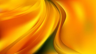 Abstract Orange and Yellow Shiny Wave Background Vector Illustration