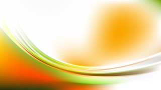 Orange White and Green Abstract Curve Background