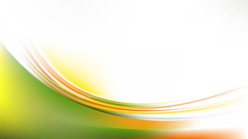Glowing Orange White and Green Wave Background Illustrator