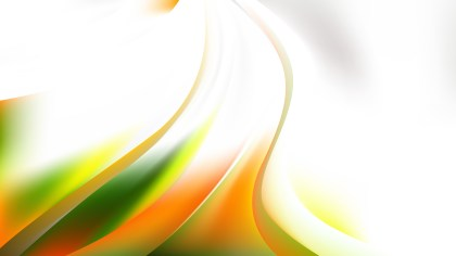 Glowing Abstract Orange White and Green Wave Background Vector Art