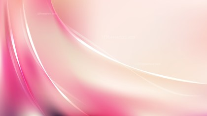 Glowing Abstract Pink and Beige Wave Background