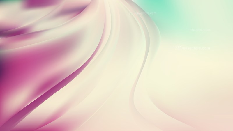 Abstract Pink and Beige Shiny Wave Background Vector Illustration