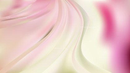 Abstract Glowing Pink and Beige Wave Background