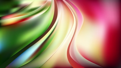 Glowing Pink and Green Wave Background