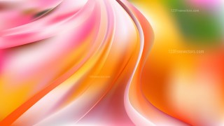 Pink and Orange Abstract Wave Background