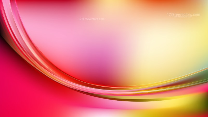 Abstract Pink and Yellow Shiny Wave Background